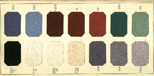 1920s clothing color chart